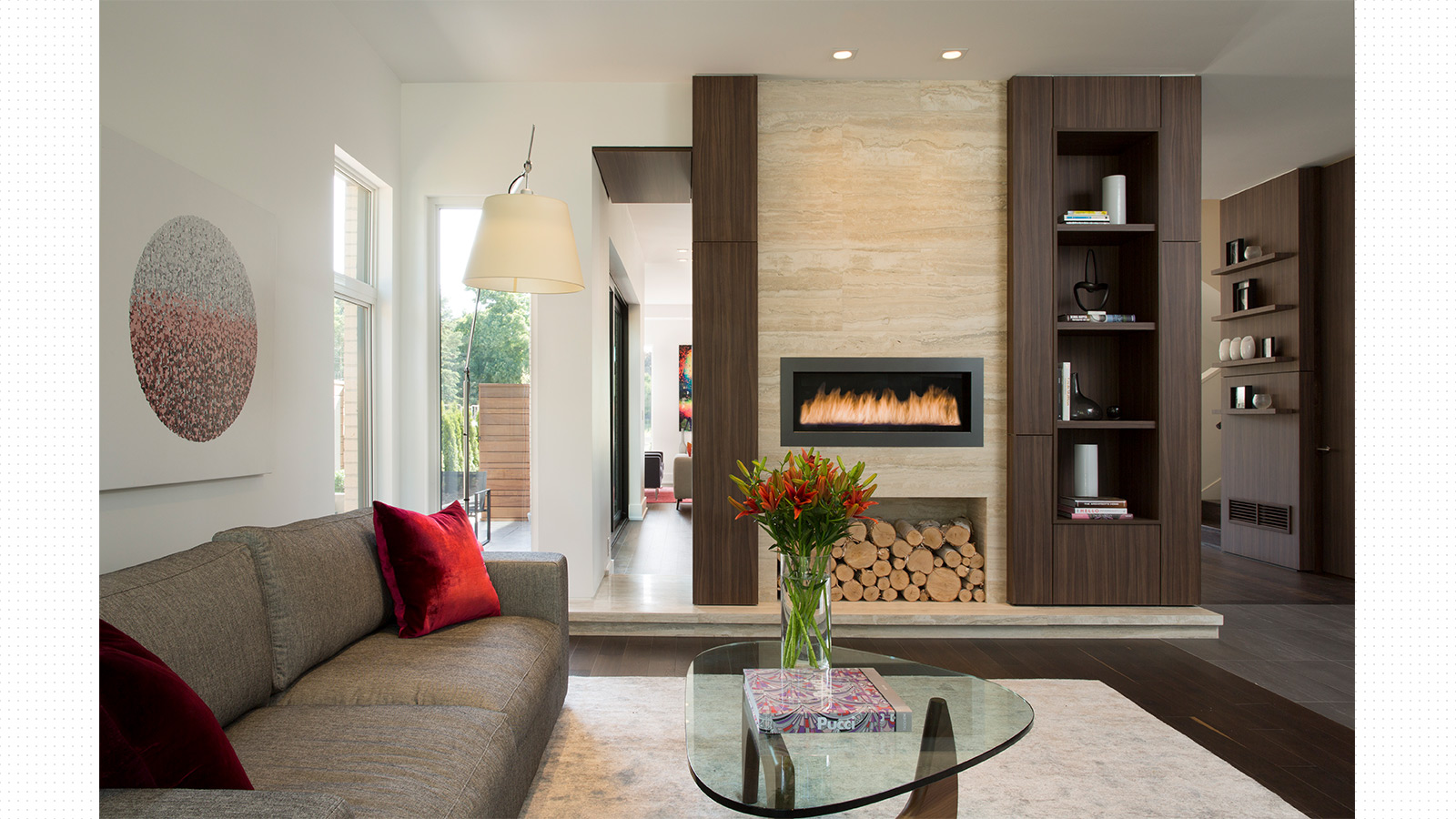 Living Room and Fireplace Details